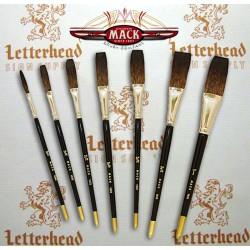 Flat Lettering Brushes