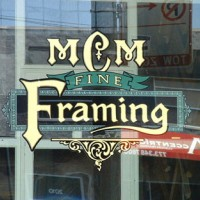 reverse glass gilded sign