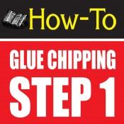 glue chipping-amazing glass craft tutorial step 1