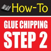 glue chipping-amazing glass craft tutorial step 2