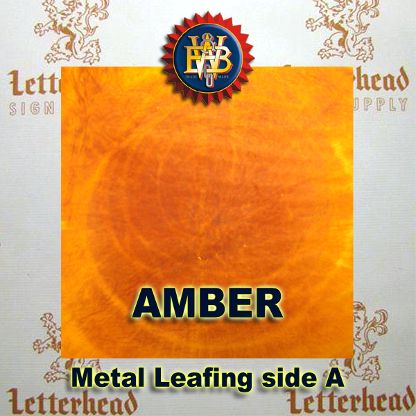 Variegated Metal Leaf-Amber Leafing 20 book Pack