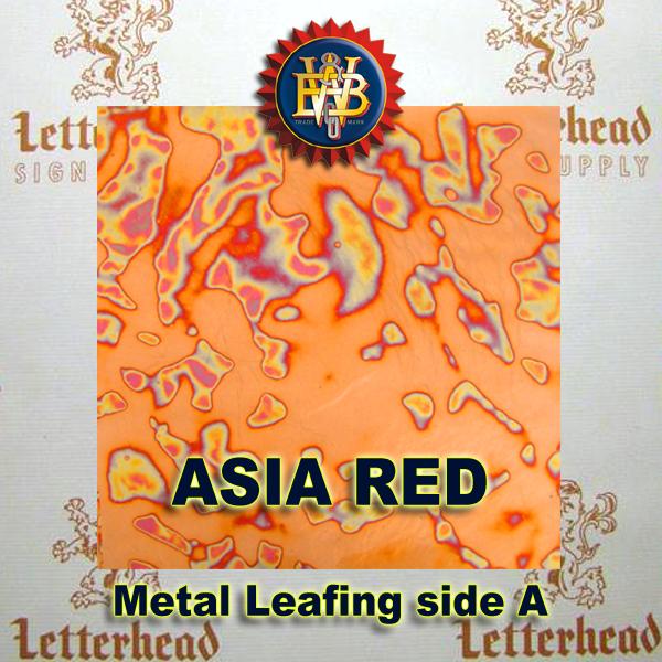 Variegated Metal Leaf-Asia Red 20 book Pack